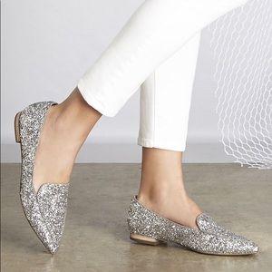 Sole Society Silver Glitter Cammila Point …